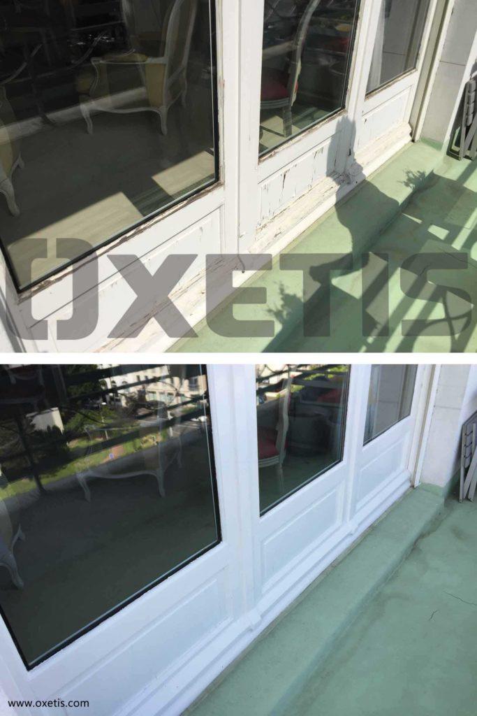 peinture fenêtre extérieur